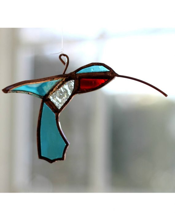 hummingbird plant rooters starters hanging water gardens brass butterfly stained glass