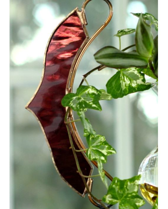 Rose Garden Creations: Stained Glass Victorian Hanging Water Garden™, Rose [Live