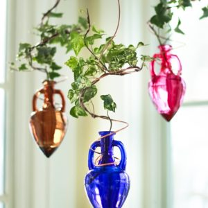 plant rooters starters hanging water gardens brass butterfly stained glass