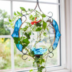 Stained Glass Teal Victorian Hanging water Garden™