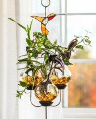 triple globe hummingbird Hanging Water Garden