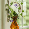 Limited Edition Crescent Wall Mount with Teardrop Vase (Amber)